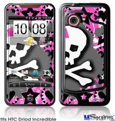 HTC Droid Incredible Skin - PinkBowSkull