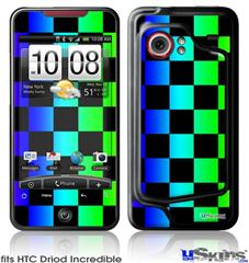 HTC Droid Incredible Skin - Rainbow Checkerboard