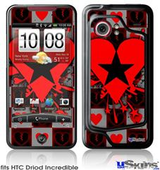 HTC Droid Incredible Skin - Emo Star Heart