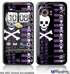 HTC Droid Incredible Skin - Skulls and Stripes 6