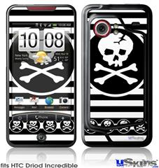 HTC Droid Incredible Skin - Skull Patch