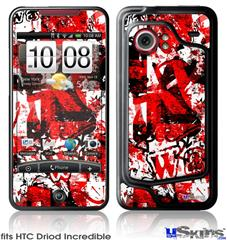 HTC Droid Incredible Skin - Red Graffiti