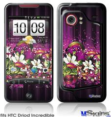 HTC Droid Incredible Skin - Grungy Flower Bouquet