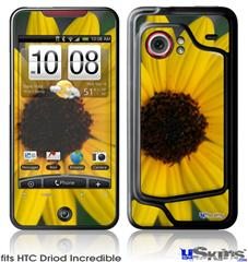 HTC Droid Incredible Skin - Yellow Daisy