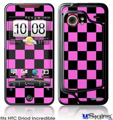 HTC Droid Incredible Skin - Checkers Pink
