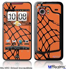 HTC Droid Incredible Skin - Ripped Fishnets Orange