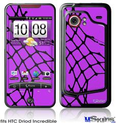 HTC Droid Incredible Skin - Ripped Fishnets Purple