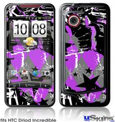 HTC Droid Incredible Skin - SceneKid Purple