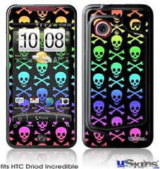 HTC Droid Incredible Skin - Skull and Crossbones Rainbow