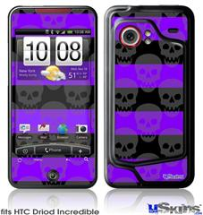 HTC Droid Incredible Skin - Skull Stripes Purple
