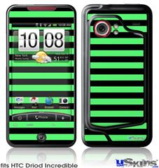 HTC Droid Incredible Skin - Stripes Green