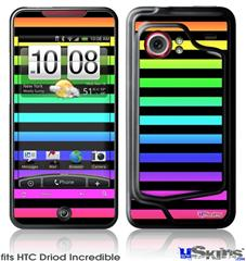 HTC Droid Incredible Skin - Stripes Rainbow