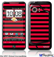 HTC Droid Incredible Skin - Stripes Red