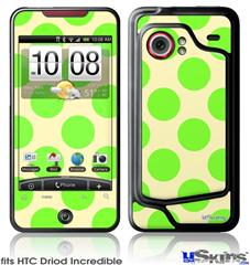 HTC Droid Incredible Skin - Kearas Polka Dots Lime On Cream