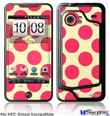 HTC Droid Incredible Skin - Kearas Polka Dots Pink On Cream