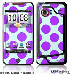 HTC Droid Incredible Skin - Kearas Polka Dots Purple And Blue