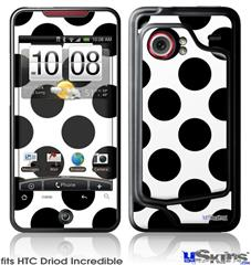 HTC Droid Incredible Skin - Kearas Polka Dots White And Black