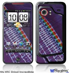 HTC Droid Incredible Skin - Tie Dye Alls Purple