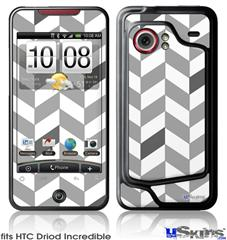 HTC Droid Incredible Skin - Chevrons Gray And Charcoal