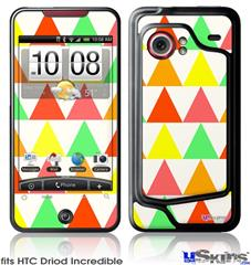 HTC Droid Incredible Skin - Triangles Citrus