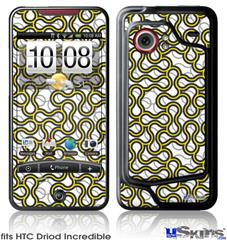 HTC Droid Incredible Skin - Locknodes 01 Yellow
