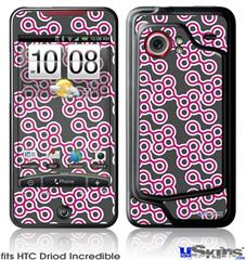 HTC Droid Incredible Skin - Locknodes 02 Hot Pink (Fuchsia)