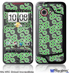 HTC Droid Incredible Skin - Locknodes 02 Green