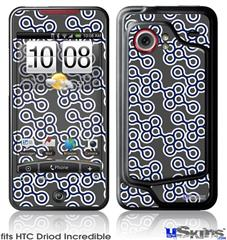 HTC Droid Incredible Skin - Locknodes 02 Navy Blue