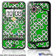 HTC Droid Incredible Skin - Locknodes 03 Green