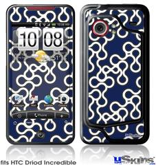 HTC Droid Incredible Skin - Locknodes 03 Navy Blue