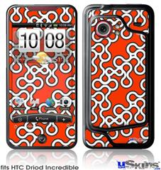 HTC Droid Incredible Skin - Locknodes 03 Red