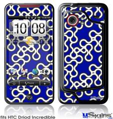HTC Droid Incredible Skin - Locknodes 03 Royal Blue