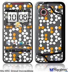 HTC Droid Incredible Skin - Locknodes 04 Orange