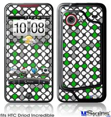 HTC Droid Incredible Skin - Locknodes 05 Green