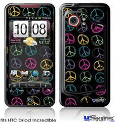 HTC Droid Incredible Skin - Kearas Peace Signs Black