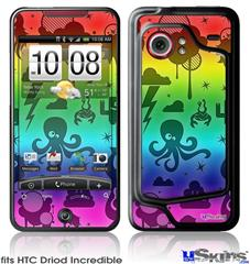 HTC Droid Incredible Skin - Cute Rainbow Monsters