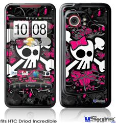 HTC Droid Incredible Skin - Girly Skull Bones