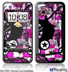 HTC Droid Incredible Skin - Pink Star Splatter