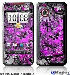 HTC Droid Incredible Skin - Butterfly Graffiti