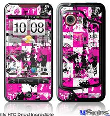 HTC Droid Incredible Skin - Pink Graffiti