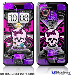 HTC Droid Incredible Skin - Butterfly Skull