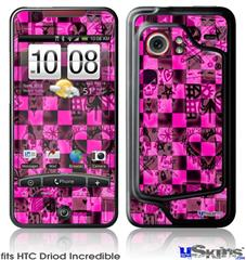 HTC Droid Incredible Skin - Pink Checkerboard Sketches