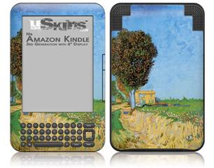 Vincent Van Gogh A Lane near Arles - Decal Style Skin fits Amazon Kindle 3 Keyboard (with 6 inch display)