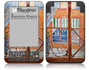 Vincent Van Gogh A Pork-Butchers Shop Seen from a Window - Decal Style Skin fits Amazon Kindle 3 Keyboard (with 6 inch display)