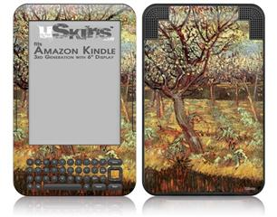 Vincent Van Gogh Apricot Trees In Blossom2 - Decal Style Skin fits Amazon Kindle 3 Keyboard (with 6 inch display)