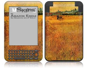 Vincent Van Gogh Arles View From The Wheat Fields - Decal Style Skin fits Amazon Kindle 3 Keyboard (with 6 inch display)