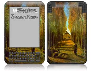 Vincent Van Gogh Autumn - Decal Style Skin fits Amazon Kindle 3 Keyboard (with 6 inch display)
