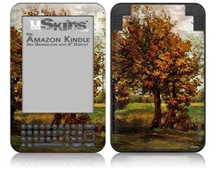 Vincent Van Gogh Autumn Landscape With Four Trees - Decal Style Skin fits Amazon Kindle 3 Keyboard (with 6 inch display)