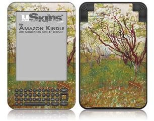 Vincent Van Gogh Cherry Tree - Decal Style Skin fits Amazon Kindle 3 Keyboard (with 6 inch display)