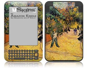 Vincent Van Gogh Entrance To The Public Park In Arles - Decal Style Skin fits Amazon Kindle 3 Keyboard (with 6 inch display)
